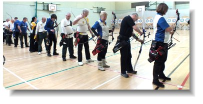 Shootiong Indoors at Montsaye Academy, Rothwell